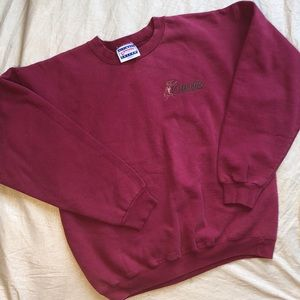 Curves for Women Burgundy/Maroon Cotton Pullover